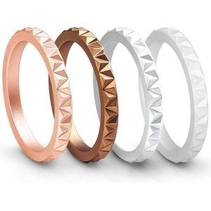 3/$10 NEW set 4 silicone women's rings
